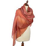 Туманні дали 10067-3, павлопосадский шарф-палантин з розрідженою вовни, фото 2