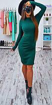 Яркое платье (цвет - изумруд, ткань - ангора) Размер S, M, L (розница и опт)