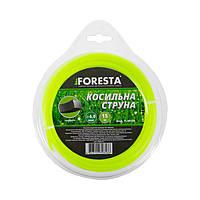 Леска для триммера Foresta квадрат 15 м 4.0 мм