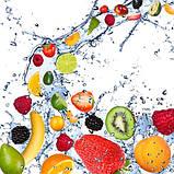 Журнальный стол прямоугольный с полкой Fruit Shake стеклянный, фото 3