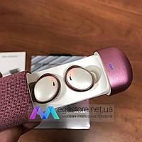 Беспроводные bluetooth наушники HIFI Earphone 206 гарнитура с кейсом для подзарядки спортивные розовые