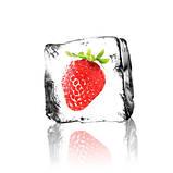 Журнальный стол прямоугольный с полкой Ice berry стеклянный, фото 3