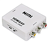 Перетворювач конвертер HDMI2AV адаптер HDMI->тюльпани /AV /HDMI2RCA