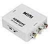 Преобразователь конвертер HDMI2AV адаптер HDMI->тюльпаны /AV /HDMI2RCA