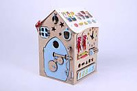 БизиБорд Бизиборд дом Сказка - 43 элемент (75х50х55 см). Дверка открывется. Имя в подарок!