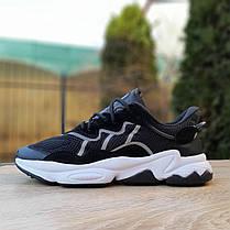 Чоловічі кросівки Adidas OZWEEGO TR чорні на білій підошві, фото 3