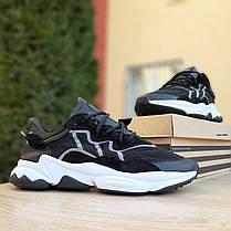 Чоловічі кросівки Adidas OZWEEGO TR чорні на білій підошві, фото 2