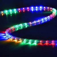 Трикутна світлодіодна стрічка, RGB 10м, 6 кольорів (7195) /Новорічна світлодіодна гірлянда-стрічка 10M RGB, фото 2