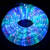 Треугольная светодиодная лента, RGB  10м, 6 цветов (7195) /Новогодняя светодиодная гирлянда-лента 10M RGB, фото 4