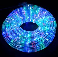 Трикутна світлодіодна стрічка, RGB 10м, 6 кольорів (7195) /Новорічна світлодіодна гірлянда-стрічка 10M RGB, фото 4