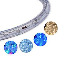 Трикутна світлодіодна стрічка, RGB 10м, 6 кольорів (7195) /Новорічна світлодіодна гірлянда-стрічка 10M RGB, фото 7