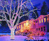 Трикутна світлодіодна стрічка, RGB 10м, 6 кольорів (7195) /Новорічна світлодіодна гірлянда-стрічка 10M RGB, фото 9