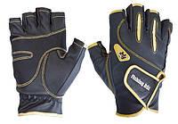 Перчатка спиннингиста Fishing ROI WK-04 black-gold (б/пальц.)