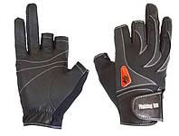 Перчатка спиннингиста Fishing ROI WK-05 black (c 2 пальц.)