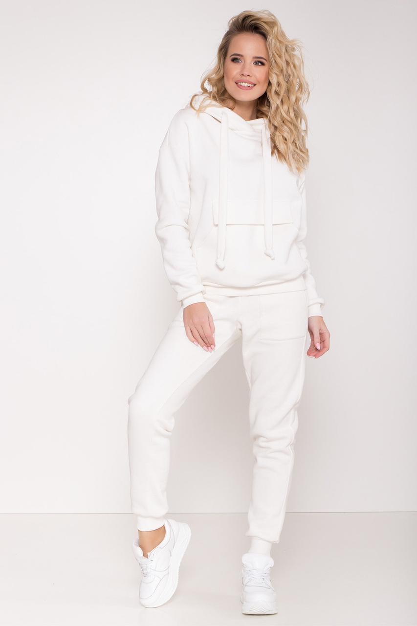 Прогулочный костюм утепленный белый