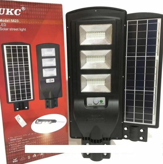 Автономный уличный светильник  на солнечной батарее с датчиком движения Solar street light UKC 5623 модель 3vv, фото 1