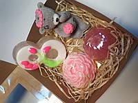 Подарочный набор мыло ручной работы на 8 марта мило ручної роботи подарунок на 8 березня