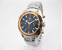 Часы Omega Seamaster Professional Chronograph 007 43mm Silver/Black/Orange. Реплика: AAA.