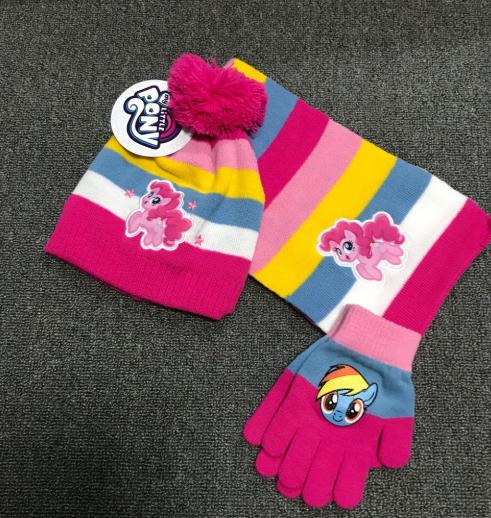 Набір демісезонний шапка+шарф+перчатки Поні My little pony