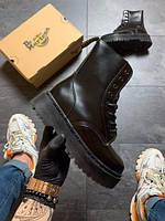 Женские ботинки   Dr Martens Jadone Mono Black (Мех) / ботинки женские Др Мартенс