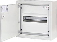 Щит металлический WRP12-1 (1х12 мод., 12мод., пластик. фальш-панель, IP30, наружн. исп.)