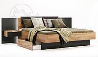 Кровать с прикроватными тумбами Luna / Луна MiroMark 180х200 дуб крафт / лава