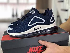 Мужские кроссовки Nike air max 720,темно синие с белым, фото 2