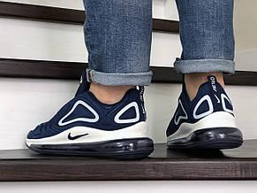 Мужские кроссовки Nike air max 720,темно синие с белым, фото 3
