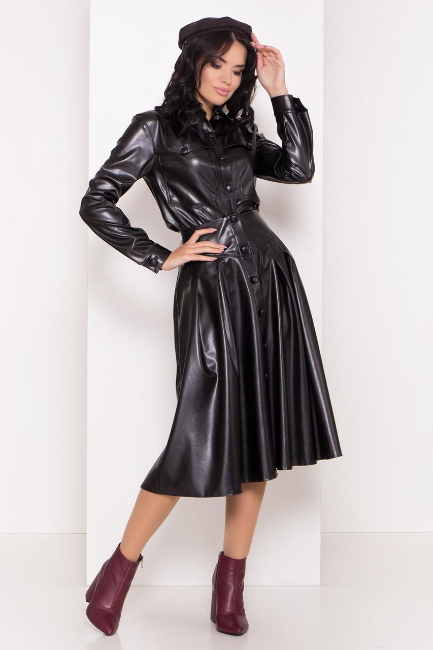 Стильный женский костюм с юбкой миди