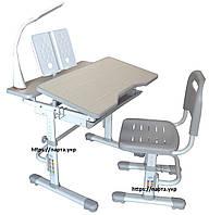 Парта трансформер 80см, стульчик, лампа, подставка, фото 1