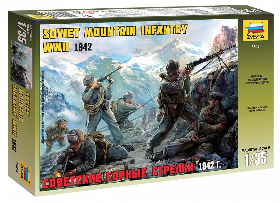 Набор миниатюр. Советские горные стрелки 1942 г.. 1/35 ZVEZDA 3606