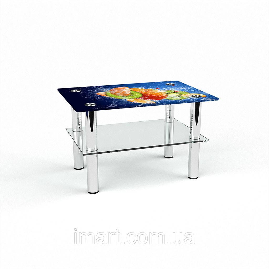 Журнальный стол прямоугольный с полкой Sweet Mix стеклянный