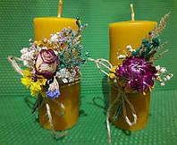 Свічки воскові з натурального бджолиного воску