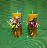 Свічки воскові з натурального бджолиного воску, фото 4