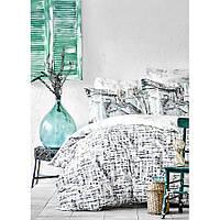 Комплект постельного белья Karaca Home ранфорс евро размер  Vella mavi