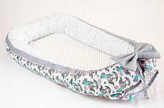 Коконы – гнездышки для новорожденных BabySoon Серые лошадки №1 50х80 см
