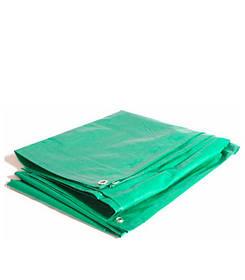 Тент тарпаулин зеленый с люверсами 150гр./м2
