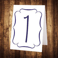 Свадебный номер стола двусторонний (арт. NS-021)