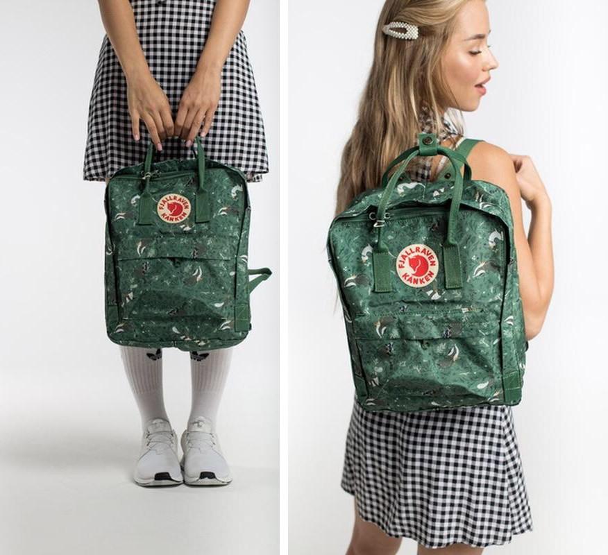 Молодежный рюкзак-сумка на девочку канкен Green Fable Fjallraven Kanken classic 16 л