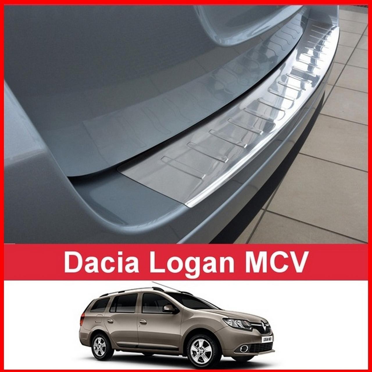 Защитная накладка на задний бампер для Dacia Logan MCV II 2012-2017 /нерж.сталь/