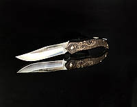 Складной нож Boda, дерквянная ручка, замок Back Lock, карманные ножи