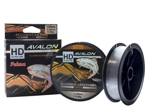 Леска простая HD Avalon Флюорокарбон 0.35mm 100m, фото 2