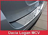 Защитная накладка на задний бампер для Dacia Logan MCV II 2012-2017 /нерж.сталь/, фото 5