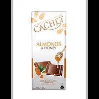 Шоколад Cachet с миндалем и медом