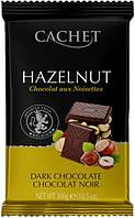 Бельгийский шоколад Cachet темный лесной орех 300г
