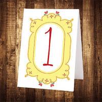 Свадебный номер стола двусторонний (арт. NS-023)