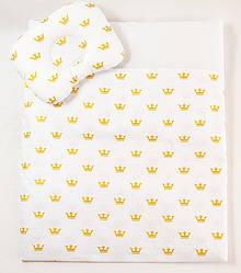 Комплект в коляску BabySoon Золотые короны одеяло 65 х 75 см подушка 22 х 26 см (588)