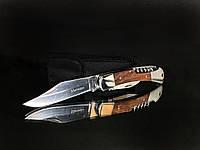 Нож складной Мичман, рукоять дерево, чехол, штопор, открывашка, карманные ножи