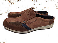Мужские коричневые туфли  45-29см Footflexx повседневная обувь кожа, фото 1