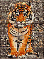 "Картина по номерам на дереве ""Уссурийский тигр"""